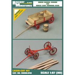 RMH0:040 Horse Barrel Wagon and Horse Cart Running Gear