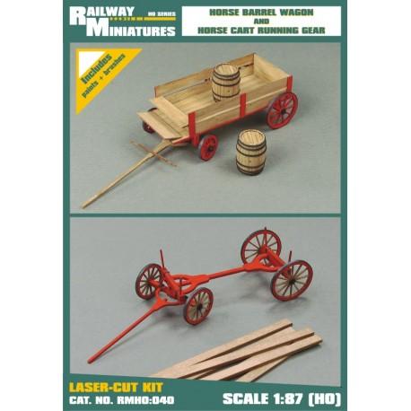 RMH0:040 Horse Barrel Wagon and Horse Cart Running Gear